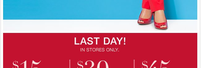 Last day to enjoy this in-store coupon.  Shop Now