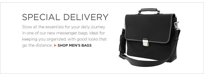 SPECIAL DELIVERY | SHOP MEN'S BAGS
