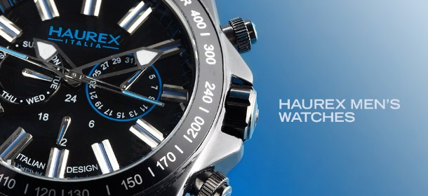 HAUREX MEN'S WATCHES, Event Ends August 15, 9:00 AM PT >