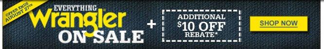 Everything Wrangler On Sale + Rebate