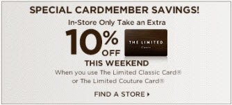SPECIAL CARDMEMBER SAVINGS! 10% OFF THIS WEEKEND