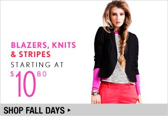 Blazers, Knits and Stripes Starting at $10.80 - Shop Now