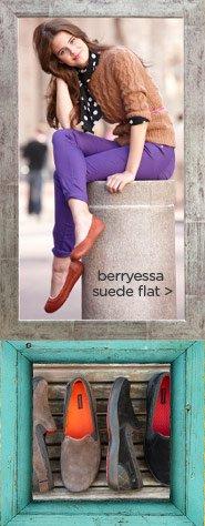 berryessa suede flat