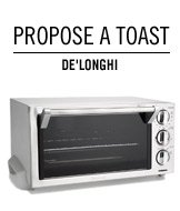 Propose a toast. Delonghi.