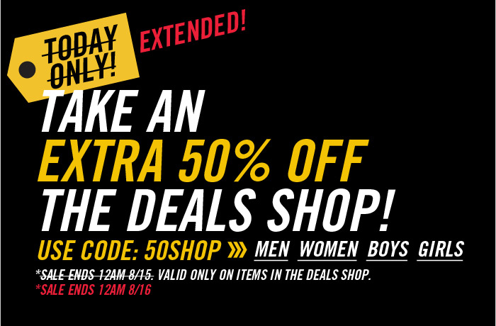 DrJays.com Take 50% Off The Deals Shop With Promo Code. Ends 8/16 at 12am.