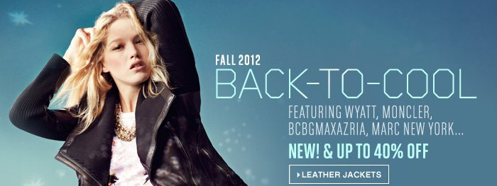 New Fall Outerwear