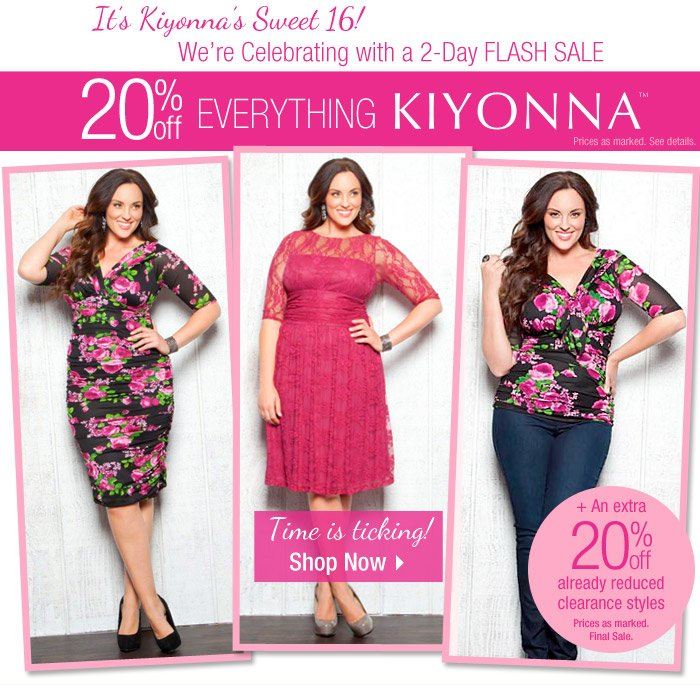 Kiyonna Flash Sale- 20% off!