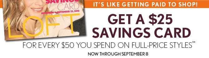 IT'S LIKE GETTING PAID TO SHOP!