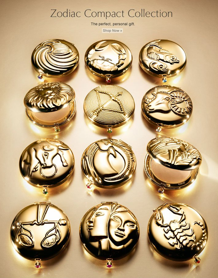 Zodiac Compact Collection The perfect, personal gift. Find Your Sign »