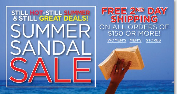 It's still hot, still summer, and you can still get GREAT deals on the hottest styles during our Summer Sandal sale! Save on a great selection of women's and men's styles from ECCO, Dansko, ABEO, Raffini, Suzzato and more! Enjoy FREE 2nd Day Shipping when you order now at The Walking Company.