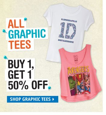 ALL GRAPHIC TEES BUY 1 GET 1 