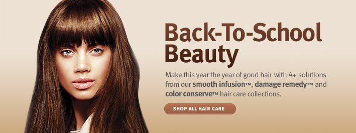 Back-To-School Beauty. shop all hair care
