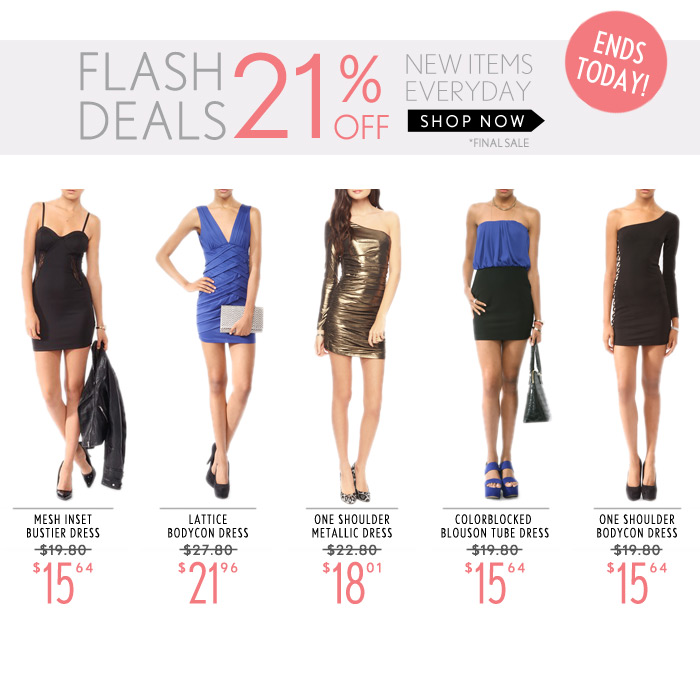 21% Off Dresses!  Today Only - Shop Now