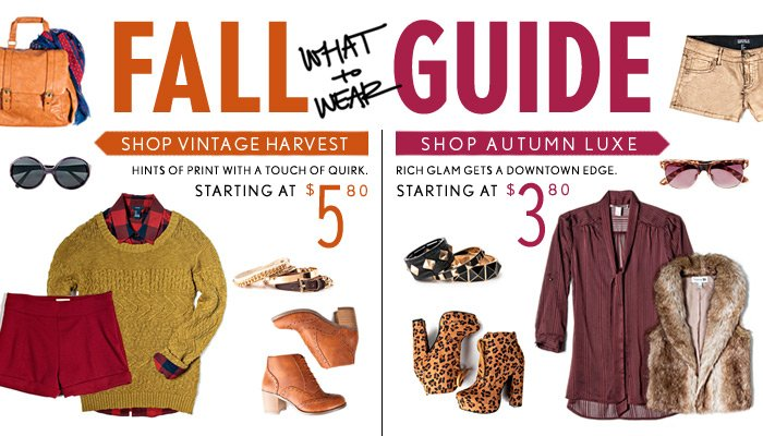What to Wear - Fall Guide - Shop Now