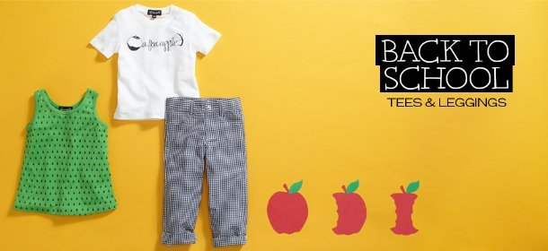 BACK TO SCHOOL: TEES, LEGGINGS AND MORE, Event Ends August 16, 9:00 AM PT >