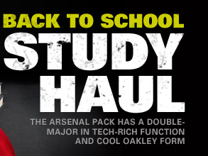 BACK TO SCHOOL STUDY HAUL | THE ARSENAL PACK HAS A DOUBLE-MAJOR IN TECH-RICH FUNCTION AND COOL OAKLEY FORM