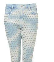 MOTO Mottle Bleach Stud Jamie Jeans