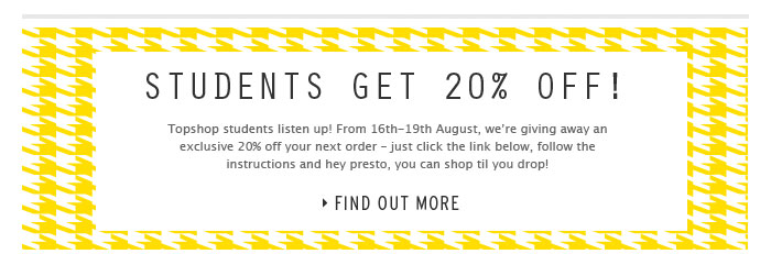 STUDENTS GET 20% OFF - Find Out More