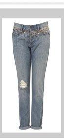 Sparkle Yoke Boyfriend Jeans