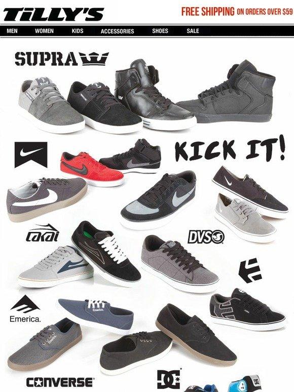 Tilly's: New SHOES - Supra, Nike, Emerica, DC, Converse, Etnies, DVS, Lakai    Milled