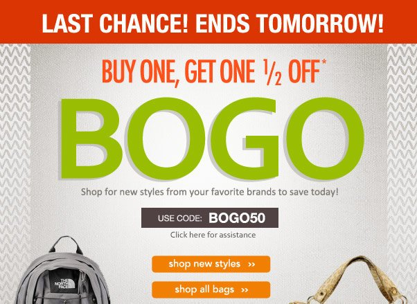Shop Now, Or BOGO will be a No Go!