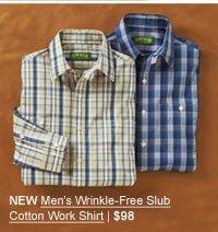 NEW Wrinkle-Free Slub Cotton Work Shirt | $98