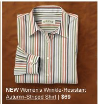 NEW Women's Wrinkle-Resistant Autumn-Striped Shirt | $69