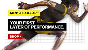 MEN'S HEATGEAR® - YOUR FIRST LAYER OF PERFORMANCE. SHOP