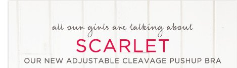 All Our Girls Are Talking About Scarlet | Our New Adjustable Cleavage Pushup Bra