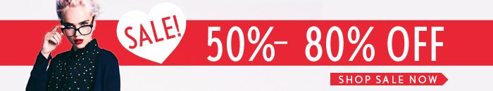 Sale! 50% - 80% Off - Shop Now