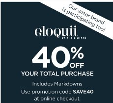 ELOQUII 40% OFF YOUR TOTAL PURCHASE