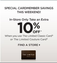 SPECIAL CARDMEMBER SAVINGS THIS WEEKEND!