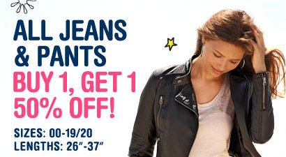 ALL JEANS & PANTS BUY 1, 