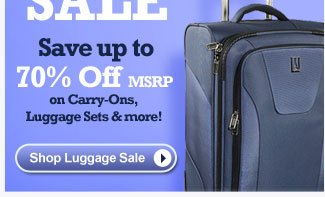 Summer Luggage Sale | Save up to 70% off MSRP on Carry-Ons, Luggage Sets & more! | Shop Luggage Sale