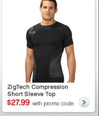 ZigTech Compression Short Sleeve Top