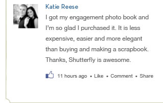 KATIE REESE – I got my engagement photo book in the mail 