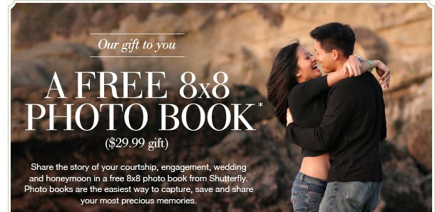 Our gift to you - A FREE 8x8 PHOTO BOOK* ($29.99 gift)