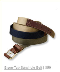Bison-Tab Surcingle Belt | $59