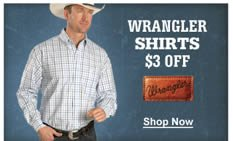 Wrangler Shirts $3 Off