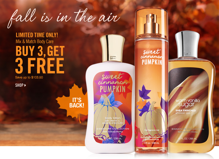 Mix & Match Body Care – Buy 3, Get 3 Free