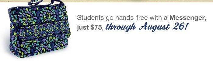 Messenger just $75, through August 26!