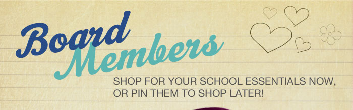 Shop for your school essentials or pin them to shop later!