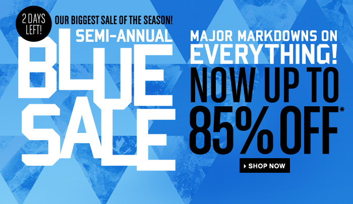 Major Markdowns on Everything Bluesale