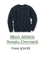 Men's Athletic Sweats, Crewneck, from $34.95