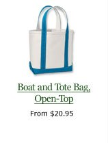 Boat and Tote Bag, Open-Top, from $20.95