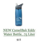 NEW CamelBak Eddy Water Bottle, .75 Liter, $15