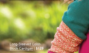NEW Long-Sleeved Color-Block Cardigan | $129