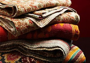 One of a Kind Kantha Throws