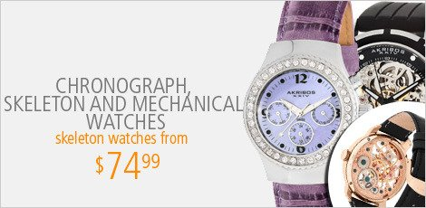 Chronograph Skeleton and Mechanical Watches
