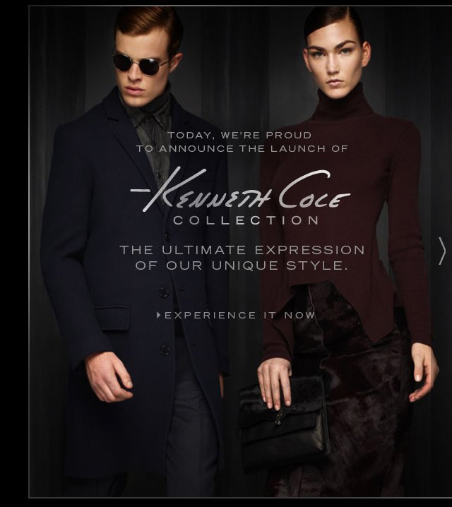 KENNETH COLE COLLECTION THE ULTIMATE EXPRESSION OF YOUR UNIQUE STYLE